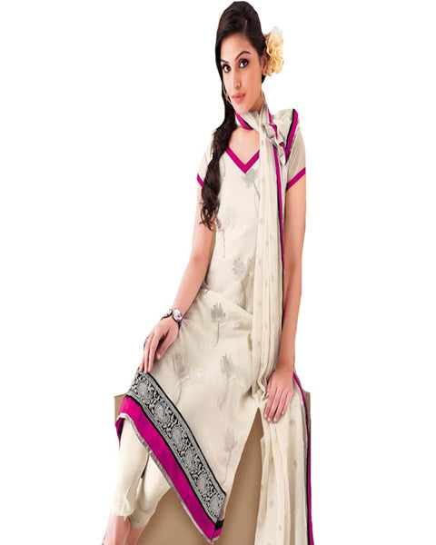 Designer Cream Churidar Suit