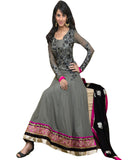 Grey Designer Anarkali Suit