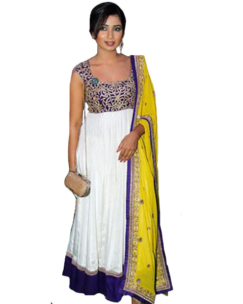 White Designer Suit By Shreya