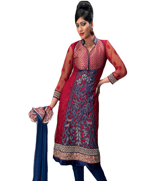Red Designer Party wear Suit