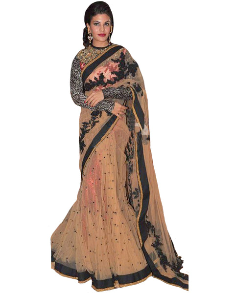 Peach Bollywood Lehnga Saree