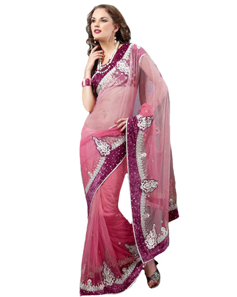 Solmon Rose Designer Saree