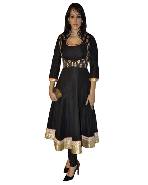 Bollywood Black Silk Suit