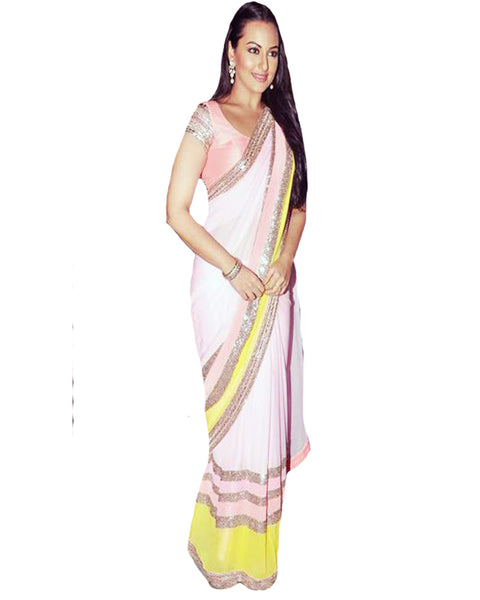 Pink Bollywood Saree