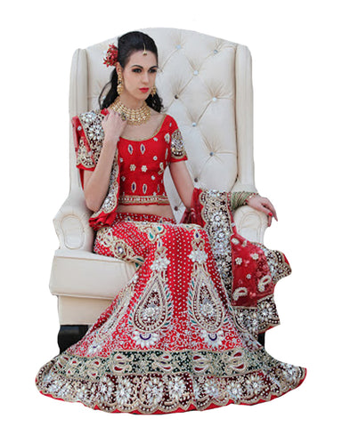 Magestic Wedding Red Lehenga
