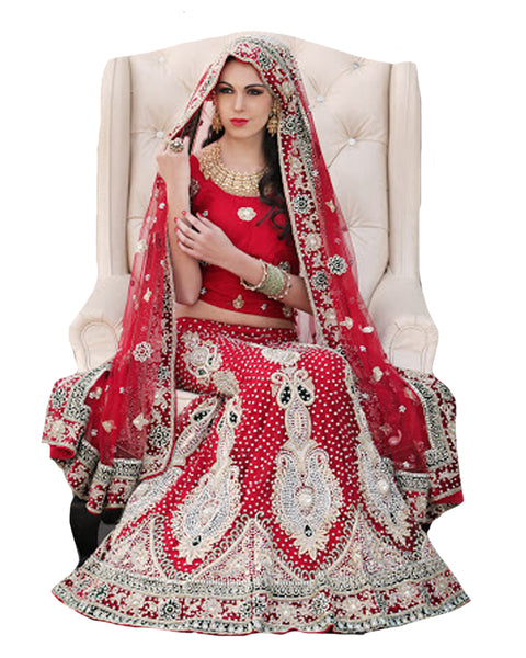 Red Magestic Wedding Lehenga