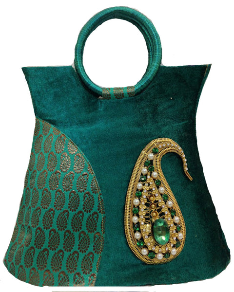 Dark Cyan Elegant Handbags