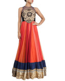 Shaded Orange Anarkali Suit