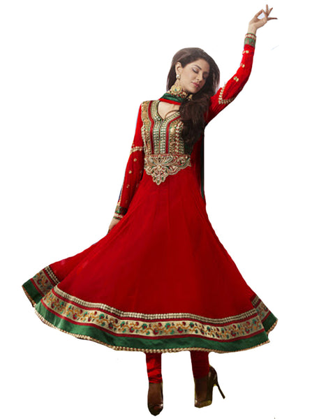 DESIGNER RED PARTY WEAR SUIT