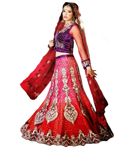 Designer Red Lehnga