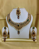 Golden Green Kundan Necklace