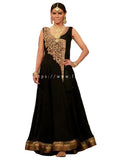 Designer Black and Golden Dress