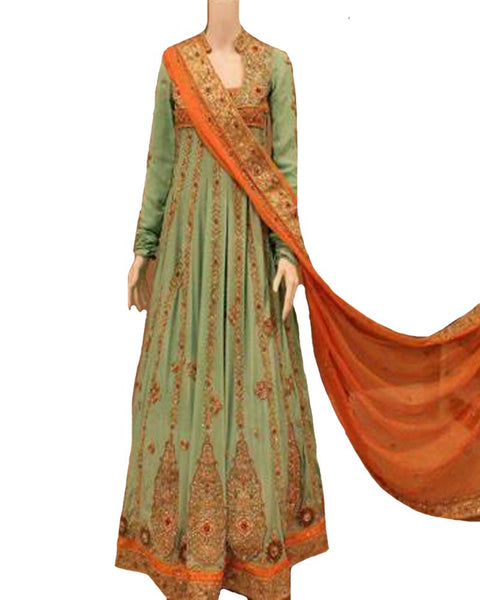 Pakistani Green Designer Suit
