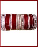 Wedding Maroon Stone Work Chuda