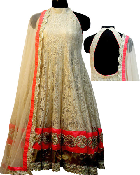 shantley golden anarkali