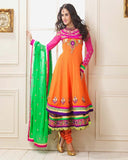 Orange Designer Anarkali Suit