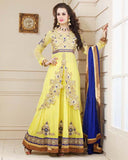 Light Lemon Designer Anarkali Suit
