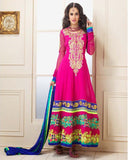 Pink Color Designer Anarkali Suit