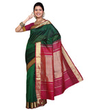 Green Color Kanchivaram Silk Sari
