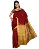 Deep Red Color Kanchivaram Silk Sari