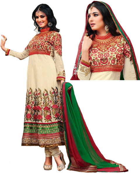 Beige Color Designer Anarkali Suit