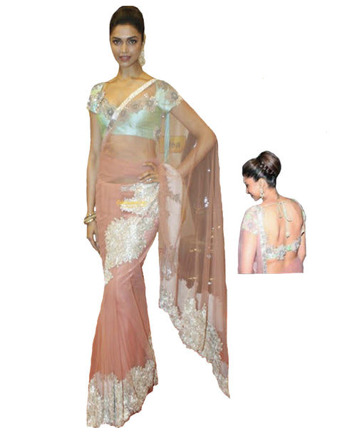 Bollywood Stylish Heavy Patched Saree