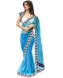 Bollywood Velvet Cutwork Saree