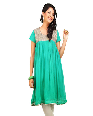 Stylish Green Color Tunic