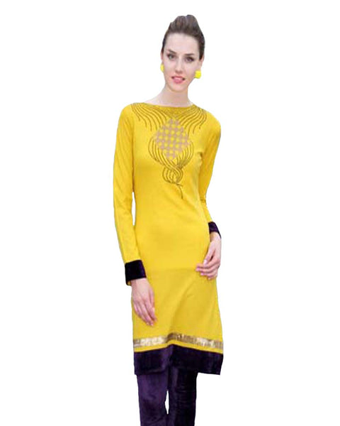 Woolen Bright Yellow Color Kurti