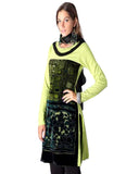 Woolen Lemon Green Color Kurti