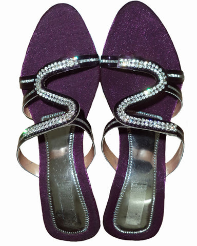Designer Copper Beaded Chappal
