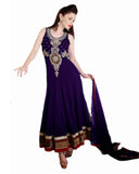 Dark Purple Anarkali Suit