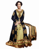 Blue & Beige Long Pakistani Dress