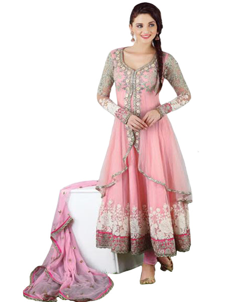 Light Pink Designer Anarkali Suit