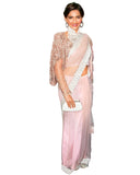 Bollywood Light Peach Color Sonam Kapoor Saree