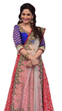 Bollywood Pink & Blue Madhuri Lehenga