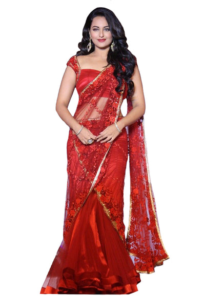 Bollywood Red Color Sonakshi Lehenga