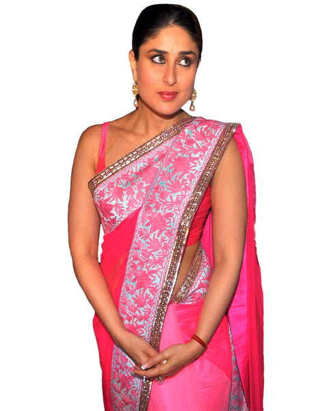 Bollywood Kareena Kapoor Pink Shaded Saree