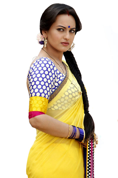 Sonakshi Sinha Yellow Bollywood Saree in Dabang-2