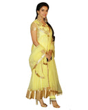 Bollywood Aassin Lemon Color Anarkali Long Suit
