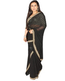Bollywood Rani Mukharji Black Saree