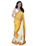 Bollywood Shri Devi Yellow Print Saree