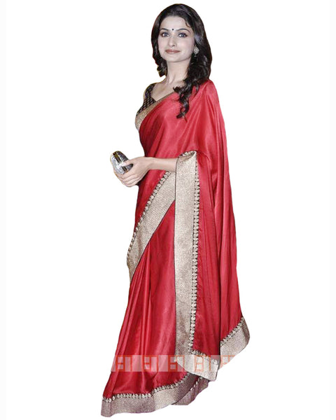 Bollywood Prachi in Red Color Saree