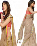 Bollywood Anushka Golden Sequins Saree