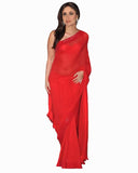 Bollywood Kareena Kapoor Bright Red Color Saree