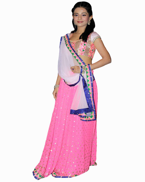 Bollywood Amrita Rao Pink Color Lehenga