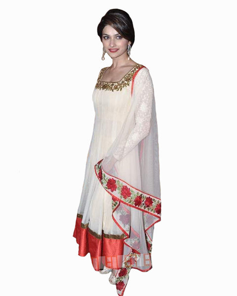 Bollywood Prachi White Color Anarkali