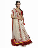 Bollywood Off White/Red Color Lehenga