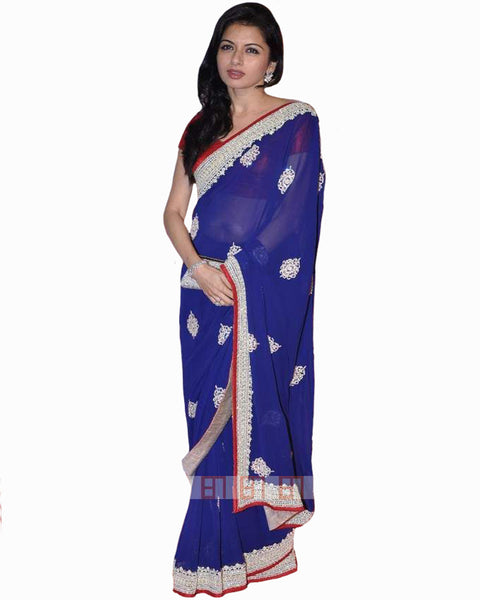 Bollywood Rajshree Royal Blue Color Saree
