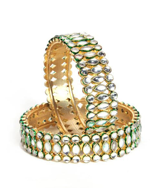 Designer Three Line Bangles Set